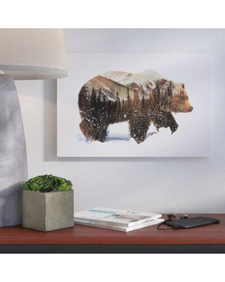 """Brayden Studio 'Arctic Grizzly Bear' by Andreas Lie Graphic Art on Wrapped Canvas BRSD3017 Size: 12"""" H x 18"""" W x 1.5"""" D"""