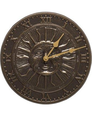 """Whitehall Products Sunface 12"""" Clock 1588"""