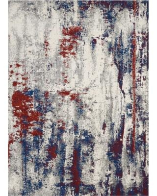 Maxell 5' x 7' Grey Abstract Area Rug - Nourison MAE15