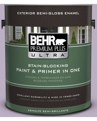 BEHR ULTRA 1 gal. #S100-3 Courtly Purple Semi-Gloss Enamel Exterior Paint & Primer