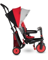 smarTrike STR3 Folding Toddler Tricycle with Stroller Certification 6-in-1 Multi-Stage Trike - Red - 1-3 Years