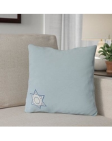 "The Holiday Aisle Star's Corner Throw Pillow HLDY7487 Size: 20"" H x 20"" W, Color: Light Blue"