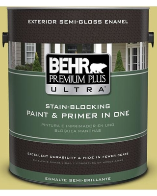 Find Savings On Behr Ultra 1 Gal P350 4 Spring Grass Semi Gloss Enamel Exterior Paint And Primer In One