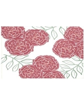 """e by design Mums The Word Floral Print Throw Blanket HFN191 Size: 60"""" L x 50"""" W, Color: Brick (Off White/Rust)"""