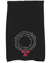 The Holiday Aisle Wreath of Words Word Print Hand Towel HLDY7375