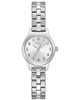 Caravelle Designed by Bulova Women's Quartz Watch with Stainless-Steel Strap, Silver, 14.2 (Model: 43L209)