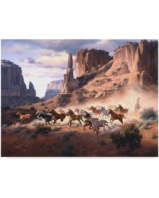 """Millwood Pines 'Sandstone and Stolen Horses' Photographic Print on Wrapped Canvas MIPN1636 Size: 18"""" H x 24"""" W x 2"""" D"""