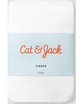 Baby Girls' Solid Opaque Tights - Cat & Jack White 6-12M, Girl's