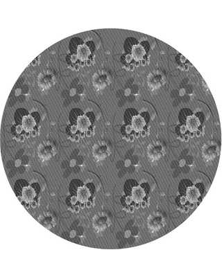Pressley Floral Wool Gray Area Rug East Urban Home Rug Size: Rectangle 2' x 4'
