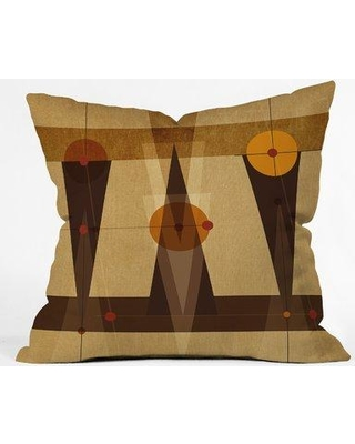 """East Urban Home Geometric Abstract Throw Pillow EUNH5268 Size: 18"""" H x 18"""" W x 5"""" D"""