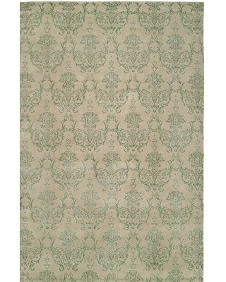 Floral Hand-Loomed Beige Area Rug Wildon Home® Rug Size: 2' x 3'