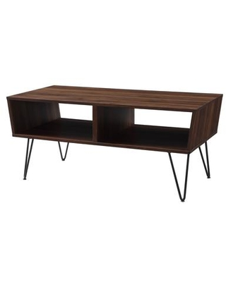 """AF42CROCTDW 42"""" Angled Coffee Table with Hairpin Legs in Dark"""