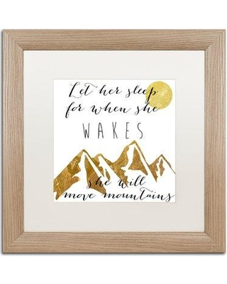 "Trademark Art 'Mountains' by Color Bakery Framed Textual Art ALI5013-T1111MF / ALI5013-T1616MF Size: 16"" H x 16"" W x 0.5"" D"