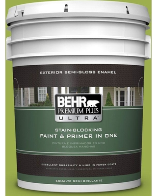 BEHR Premium Plus Ultra 5 gal. #PPU10-05 Intoxication Semi-Gloss Enamel Exterior Paint and Primer in One