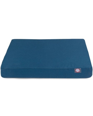 Solid Small Orthopedic Memory Foam Rectangle Dog Bed