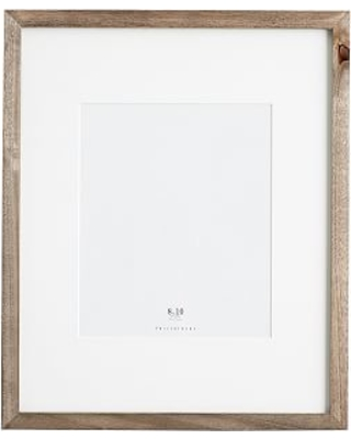Wood Gallery Single Opening Frame, 8x10 - Gray