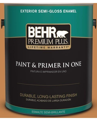 BEHR PREMIUM PLUS 1 gal. #280D-6 Mulling Spice Semi-Gloss Enamel Exterior Paint and Primer in One