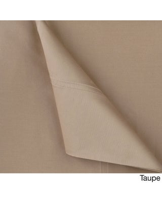 Williamsburg 400 Thread Count Bed Sheet Set with Bonus Pillow Cases (Taupe - 6 Piece - Full)