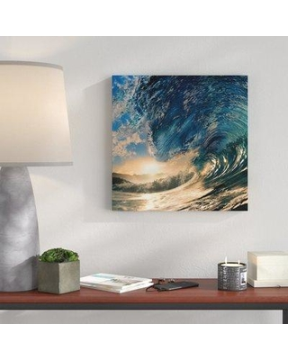 """Wrought Studio 'Ocean Waves 1' Photographic Print on Wrapped Canvas VARK4642 Size: 36"""" H x 36"""" W x 1.5"""" D"""