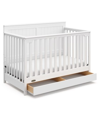 Graco Hadley 4-in-1 Convertible Crib with Drawer White