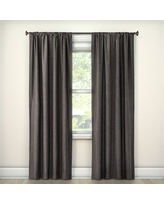 "Lightblocking Curtain Panel Charcoal (Grey) (42""x63"") - Room Essentials"
