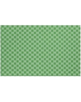 "Breakwater Bay Belaire Geometric Print Throw Blanket BRWT6002 Size: 60"" L x 50"" W, Color: Leaf Green"