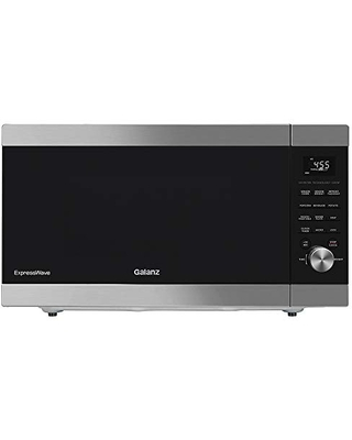 Galanz ExpressWave Sensor Microwave Oven, Patented Inverter Technology, 10 Variable Power Levels, Express Cooking Knob, Stainless Steel, 2.2 Cu Ft