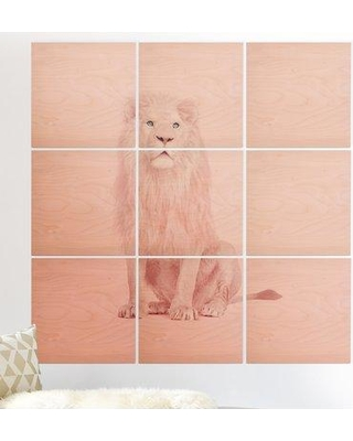 East Urban Home 'Pink Lion' Graphic Art Print Multi-Piece Image on Wood EBHS1678
