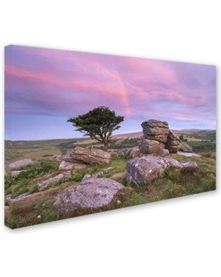 "Trademark Fine Art 'Rainbow Sunrise' Photographic Print on Wrapped Canvas ALI7306-C Size: 12"" H x 19"" W x 2"" D"