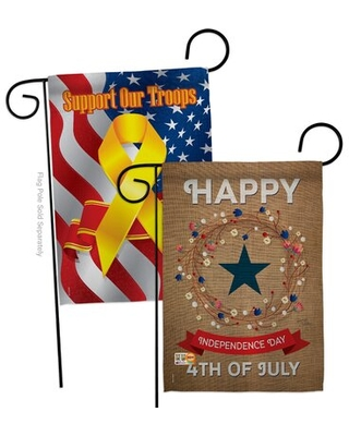 Special Prices On Independence Day 2 Sided Polyester 19 X 13 In Garden Flag Breeze Decor