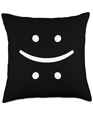 be happy smile or be sad philosopher gift idea You decide-be happy or be sad-show your mood with this Throw Pillow, 18x18, Multicolor