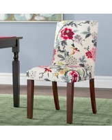 Find Big Savings On Calvillo Cotton Upholstered Dining Chair In Red Gray Yellow Winston Porter