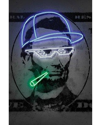 """East Urban Home 'Lincoln' Graphic Art Print on Canvas URHE2270 Size: 18"""" H x 12"""" W x 1.5"""" D"""