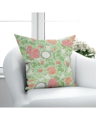 Check Out Deals On Red Barrel Studio Ajnag Floral Throw Pillow Eco Fill Cotton Blend In Green Orange Pink Size 16 X 16 Wayfair 698a7e2c4f124534bd0a7b048307855d