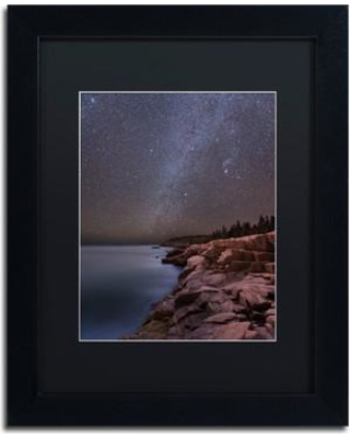 "Trademark Art 'Night on Granite' by Michael Blanchette Framed Photographic Print ALI3945-B1 Size: 14"" H x 11"" W x 0.5"" D Matte Color: Black"