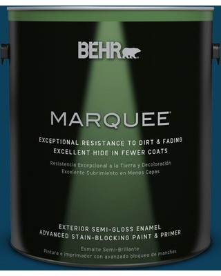 BEHR MARQUEE 1 gal. #ecc-53-3 Outer Space Semi-Gloss Enamel Exterior Paint and Primer in One