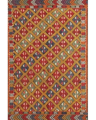 Contemporary Red/Green/Blue Area Rug