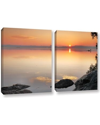 """ArtWall Potomac Sunrise by Steve Ainsworth 2 Piece Photographic Print on Wrapped Canvas Set 0ain057bw Size: 18"""" H x 28"""" W x 2"""" D"""