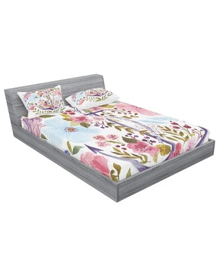 Watercolor Floral Sheet Set East Urban Home Size: Queen