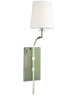 Hudson Valley Glenford Wall Sconce in Polished Nickel