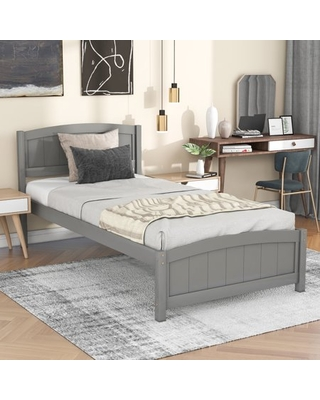 Classic Brands Coventry Upholstered Platform Bed   Headboard and Metal Frame with Wood Slat Support, King, Grey