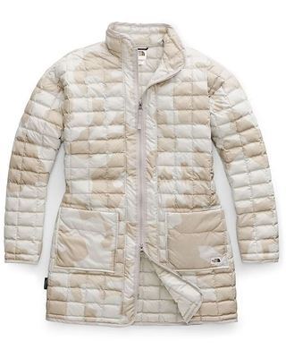 f6b150453 The North Face The North Face Women's ThermoBall Eco Long Jacket - XS -  Dove Grey Oversized Textured Camo Print from Moosejaw | Martha Stewart