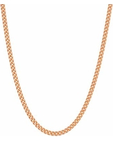 """14k Rose Gold Over Silver Curb Chain Necklace, Women's, Size: 24"""", Pink"""