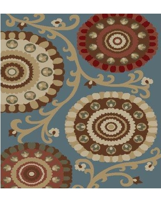 Winston Porter Chalmers Carousel Blue Area Rug BF186906 Rug Size: Rectangle 5' x 7'