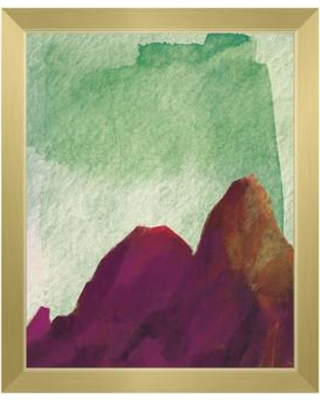 "Click Wall Art Magenta Twin Rocks Framed Painting Print on Canvas CCEE2355 Format: Gold Framed Size: 22.5"" H x 18.5"" W"