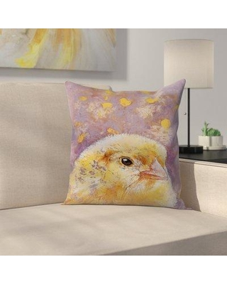 "East Urban Home Michael Creese Chick Throw Pillow EUHG4327 Size: 20"" x 20"""