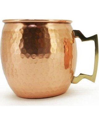 Charlton Home® Averill Hammered Copper Moscow Mule Mug X112200984