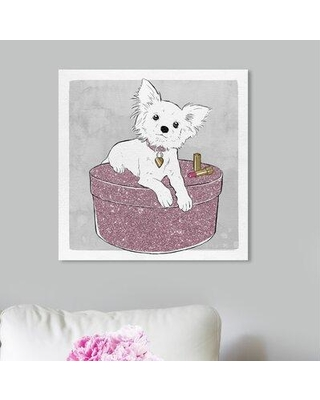 """Art Remedy Dogs and Puppies 'Chihuahua and Glam' Graphic Art Print on Wrapped Canvas 25841_XHD Size: 20"""" H x 20"""" W x 1.5"""" D"""