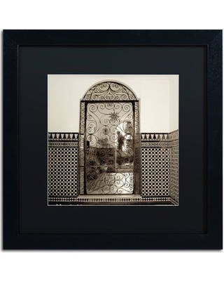 "Trademark Art 'Cordoba I' Framed Photographic Print ALI5203-B1 Mat Color: Black Size: 16"" H x 16"" W x 0.5"" D"