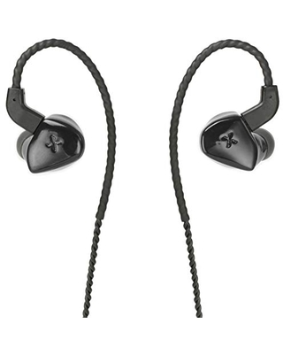 Massdrop x MEE Audio Planamic in-Ear Monitors - Planar Magnetic HiFi Headphones with Omnidirectional Microphone and Remote, Detachable Braided Cable, Over-Ear Style, Comply Silicon Ear Tips (Black)